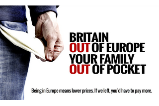 Out of Europe = Out of Pocket (Britain is Stronger in Europe campaign)